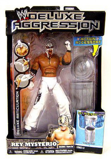 WWE Wrestling Deluxe Aggression Series 13 Rey Mysterio Action Figure [White Mask & Pants]