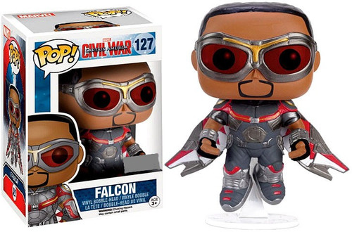 Funko Civil War POP! Marvel Falcon Exclusive Vinyl Bobble Head #127 [Civil War]