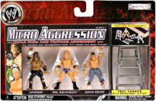 WWE Wrestling Micro Aggression Series 7 John Cena, Ken Kennedy & Umaga Mini Figure [Tall Ladder]