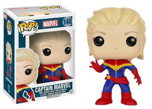 Funko POP! Marvel Captain Marvel Vinyl Bobble Head #148