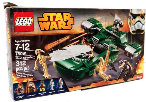 LEGO Star Wars Phantom Menace Flash Speeder Set #75091 [Damaged Package]