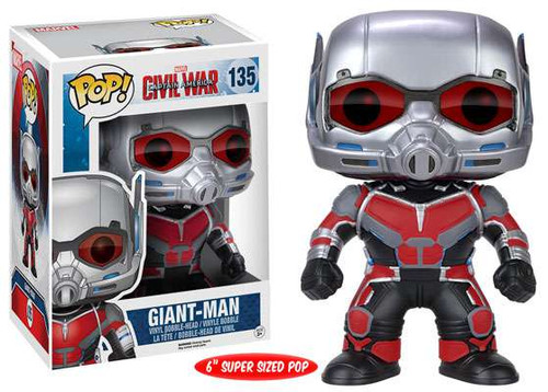 Funko Civil War POP! Marvel Giant-Man 6-Inch Vinyl Bobble Head #135 [Super-Sized]