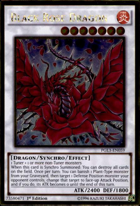 YuGiOh Premium Gold: Infinite Gold Gold Rare Black Rose Dragon PGL3-EN059