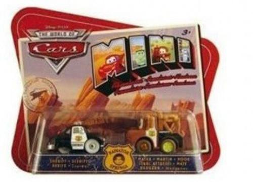Disney / Pixar Cars The World of Cars Mini Adventures Sheriff & Mater Plastic Car 2-Pack