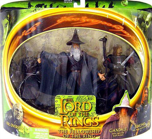 The Lord of the Rings The Fellowship of the Ring Gandalf, Boromir & Orc Overseer Action Figure 3-Pack