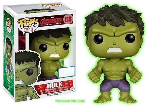 Funko Avengers Age of Ultron POP! Marvel Hulk Exclusive Vinyl Figure #68 [Glow-in-the-Dark]