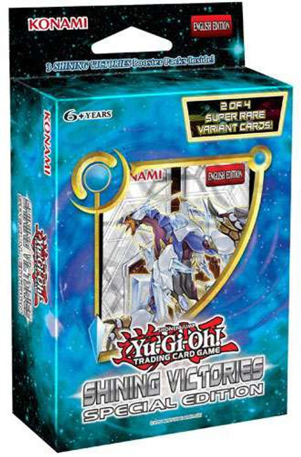YuGiOh Trading Card Game Shining Victories Special Edition [3 Booster Packs & Promo Card!]