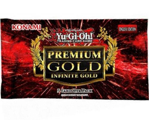 YuGiOh Trading Card Game Premium Gold Infinite Gold Booster Pack [5 Cards]
