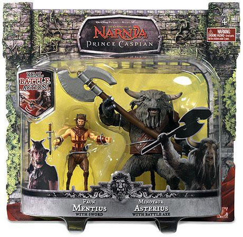 The Chronicles of Narnia Prince Caspian Faun Mentius & Minotaur Asterius Action Figure 2-Pack