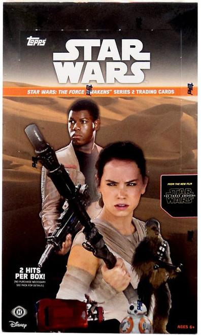 Star Wars The Force Awakens Series 2 Trading Card HOBBY Box [24 Packs, 2 Hits!]