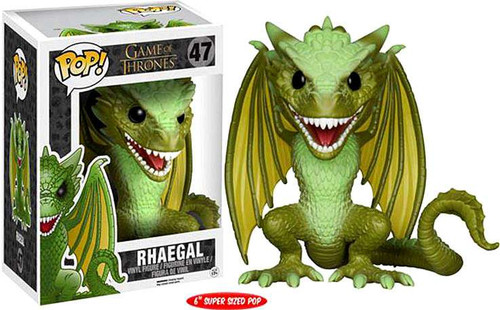 Funko Game of Thrones POP! TV Rhaegal 6-Inch Vinyl Figure #47 [Super-Sized]