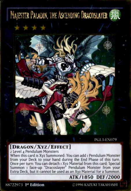 YuGiOh Premium Gold: Infinite Gold Gold Rare Majester Paladin, the Ascending Dracoslayer PGL3-EN079
