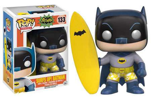 Funko Batman 1966 TV Series POP! Heroes Surfs Up! Batman Vinyl Figure #133
