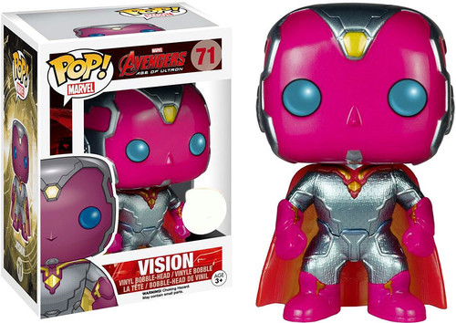 Funko Avengers Age of Ultron POP! Marvel Vision Exclusive Vinyl Bobble Head #71 [Metallic]