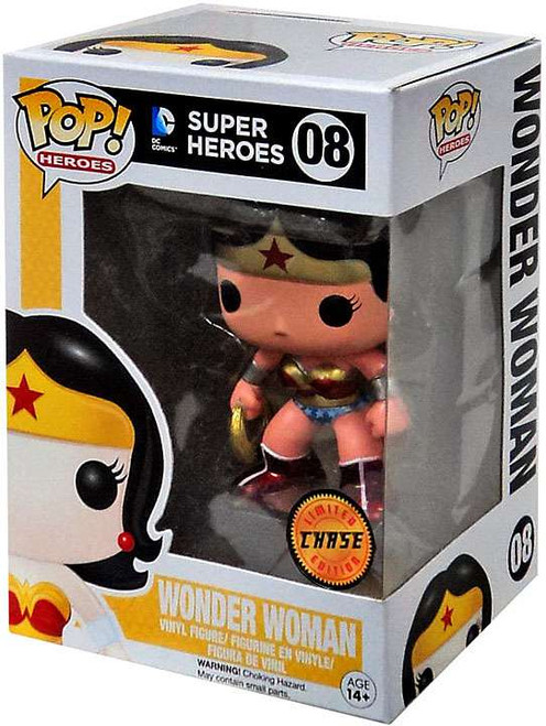 Funko DC Universe POP! Heroes Wonder Woman Vinyl Figure #08 [Metallic Chase Version, Damaged Package]