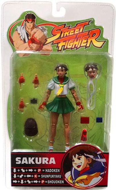 Street Fighter Series 3 Sakura Action Figure [Green Skirt]
