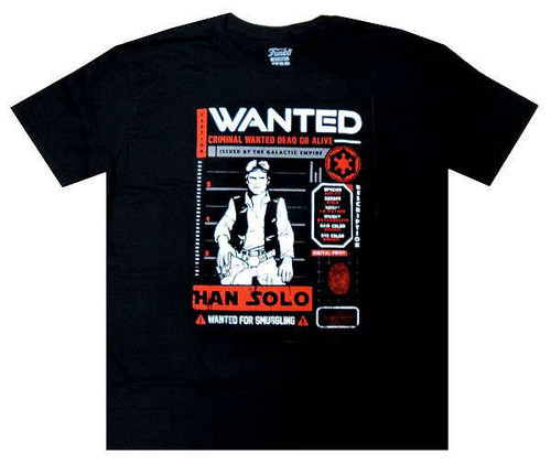 Funko Star Wars The Force Awakens Han Solo: Wanted Exclusive T-Shirt [X-Large]
