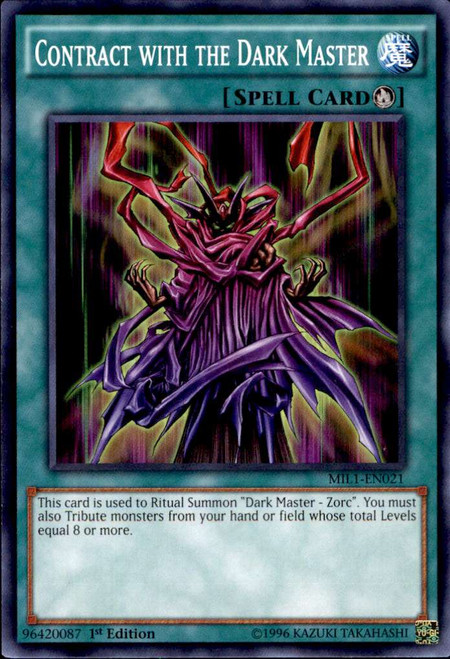 YuGiOh Millennium Pack Common Contract with the Dark Master MIL1-EN021