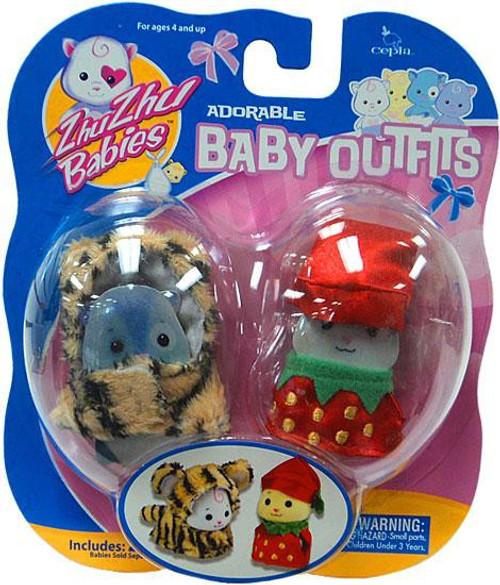 Zhu Zhu Pets Babies Baby Outfits Tiger & Strawberry Accessory Set
