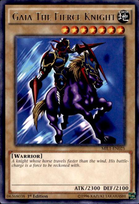YuGiOh Millennium Pack Rare Gaia The Fierce Knight MIL1-EN025