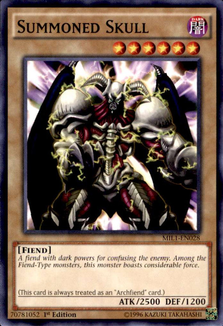 YuGiOh Millennium Pack Common Summoned Skull MIL1-EN028