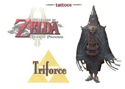 The Legend of Zelda Twilight Princess King Zant & Triforce Temporary Tattoo #5