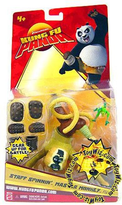 Kung Fu Panda Master Monkey Action Figure [Staff Spinnin]