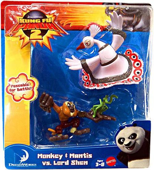 Kung Fu Panda 2 Monkey & Mantis vs. Lord Shen Mini Figure 2-Pack