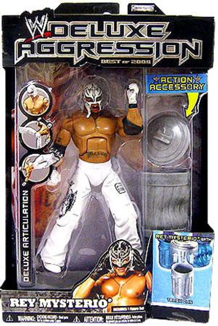 WWE Wrestling Deluxe Aggression Best of 2008 Rey Mysterio Action Figure