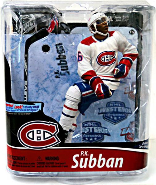 McFarlane Toys NHL Montreal Canadiens Sports Picks Series 28 P.K. Subban Action Figure [White Jersey]