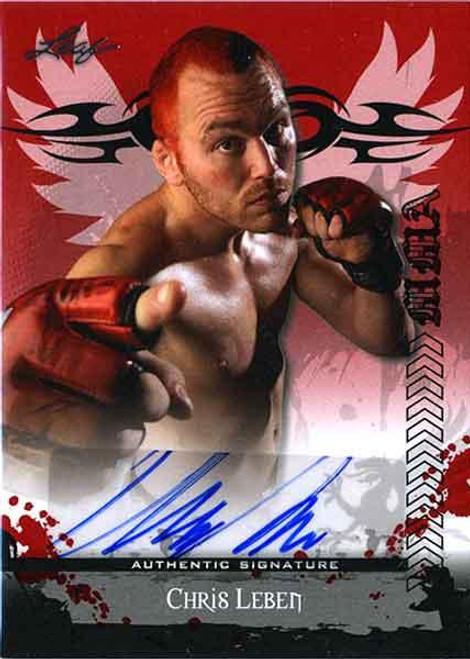 MMA Series 2010 Chris Leben Autograph Card AV-CL1