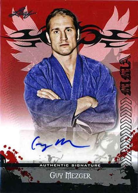 MMA Series 2010 Guy Mezger Autograph Card AV-GM2
