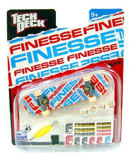 Tech Deck Finesse 96mm Mini Skateboard [Red, White & Blue Logo]