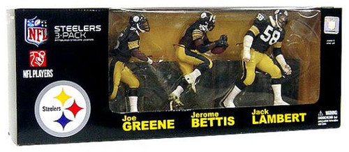 McFarlane Toys NFL Pittsburgh Steelers Sports Picks Jack Lambert, Jerome Bettis & Mean Joe Greene Exclusive Action Figure 3-Pack [Legends]