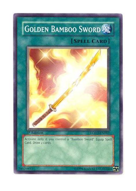 YuGiOh GX Trading Card Game Light of Destruction Common Golden Bamboo Sword LODT-EN062