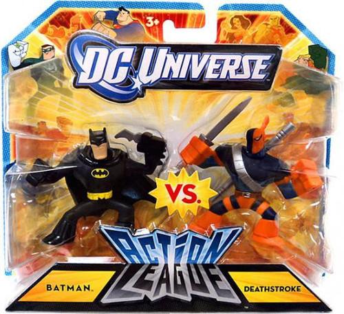 DC Universe Action League Batman vs. Deathstroke 3-Inch Mini Figures