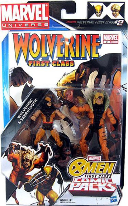 Marvel Universe Wolverine & Sabretooth Action Figure 2-Pack