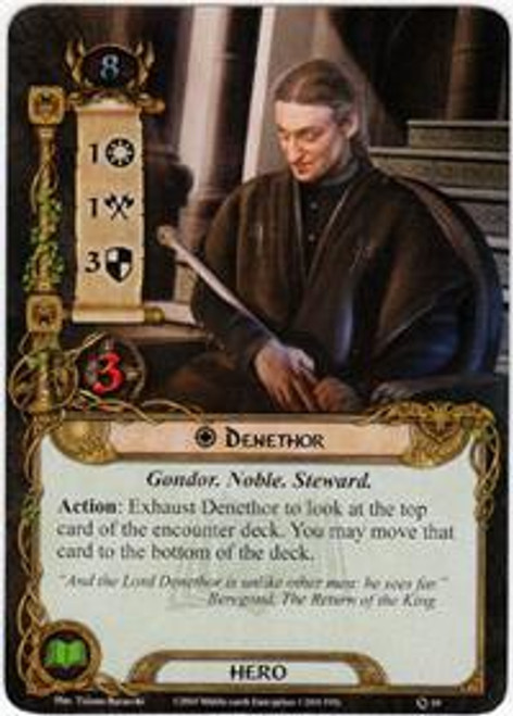 The Lord of the Rings The Card Game Core Set Rare Denethor #10