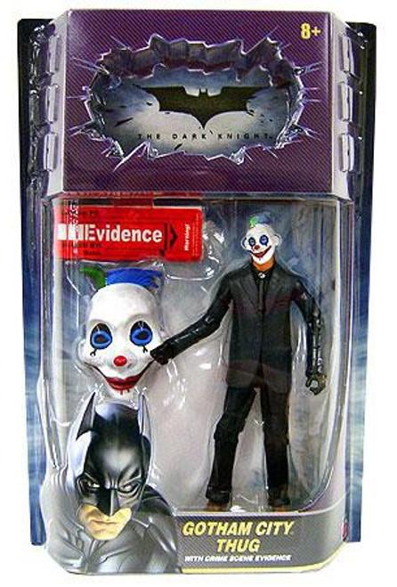 Batman The Dark Knight Crime Scene Evidence Gotham City Thug Action Figure [Happy Mask, Blue & Green Hair]