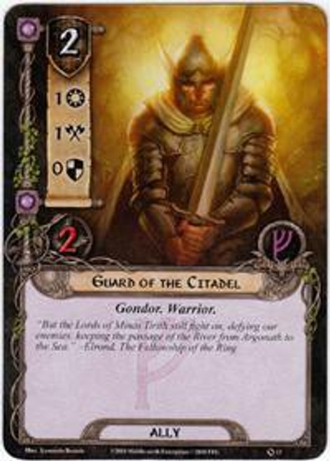The Lord of the Rings The Card Game Core Set Common Gaurd of the Citadel #13
