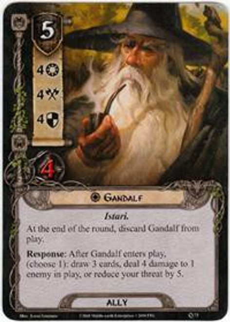 The Lord of the Rings The Card Game Core Set Common Gandalf #73