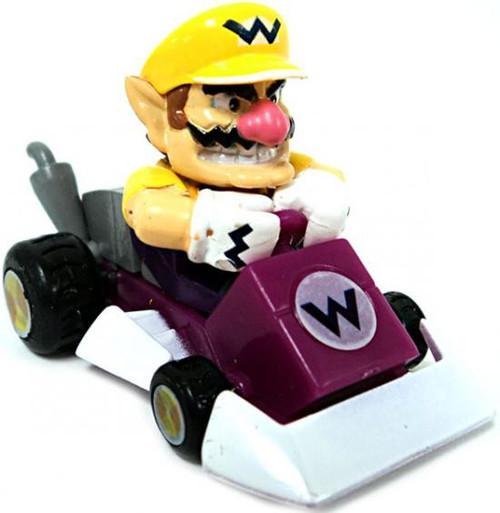 Super Mario Mario Kart Gacha Wario 1.5-Inch Pull Back Racer [Square Front Bumper]