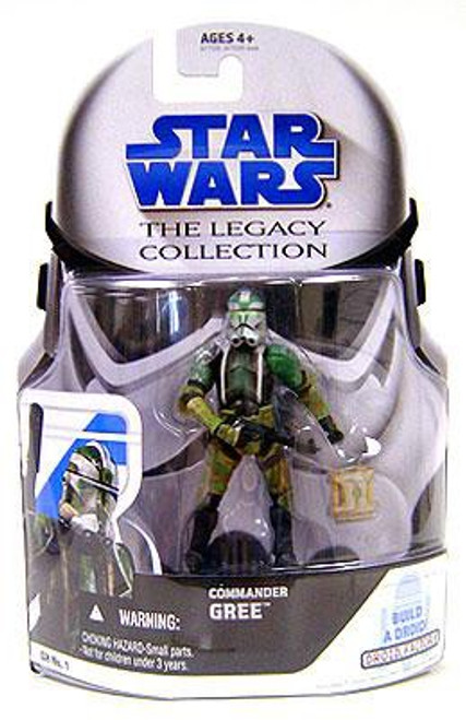 Commander Gree Star Wars 2008 Legacy 3.75 TLC GH No1 Action Figure Build A Droid