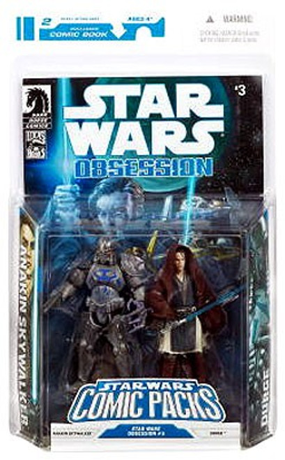 Star Wars Expanded Universe 2009 Comic Packs Anakin Skywalker & Durge Action Figure 2-Pack #3