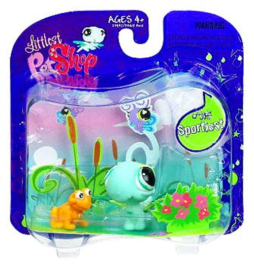 Littlest Pet Shop Green Dragonfly with Frog Action Figure 2-Pack