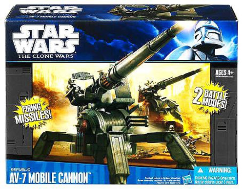 Star Wars The Clone Wars Vehicles 2011 Republic AV-7 Mobile Cannon Action Figure Vehicle