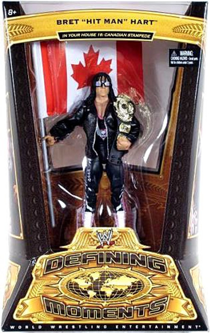 """WWE Wrestling Defining Moments Series 5 Bret """"Hit Man"""" Hart Action Figure [In Your House 16 Canadian Stampede]"""