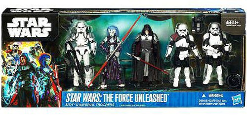 Star Wars Boxed Sets 2011 Force Unleashed Sith & Imperial Troopers Exclusive Action Figure Set