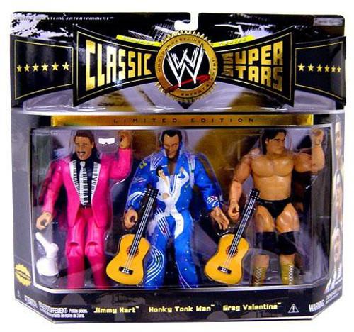 WWE Wrestling Classic Superstars Jimmy Hart, Honky Tonk Man & Greg Valentine Action Figure 3-Pack [Rythm& Blues]