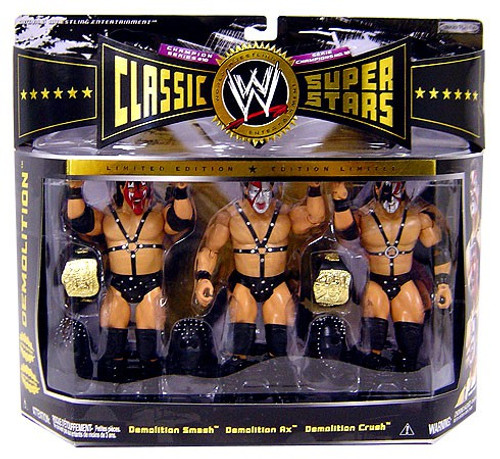 WWE Wrestling Classic Superstars Series 3 Demolition Exclusive Action Figure 3-Pack